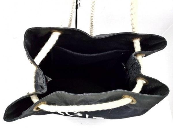 エックスガール リュックサック 黒×白 キャンバス×ナイロン 7