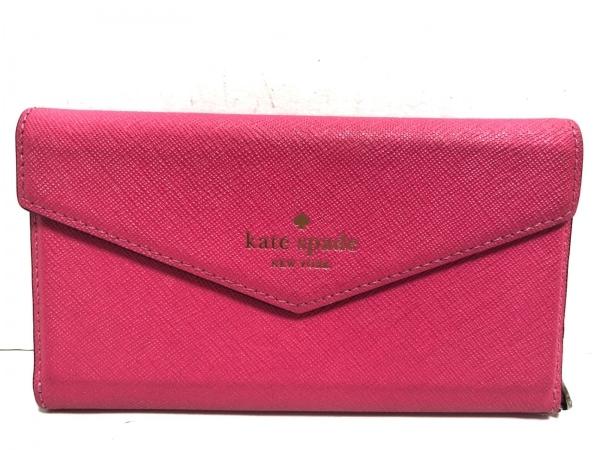 Kate spade(ケイトスペード) 携帯電話ケース - ピンク レザー 1