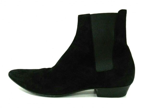 サンローランパリ ショートブーツ 43 メンズ 黒 サイドゴア 1