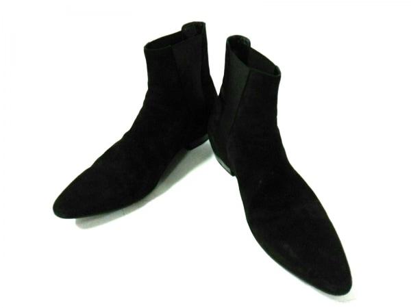 サンローランパリ ショートブーツ 43 メンズ 黒 サイドゴア 2