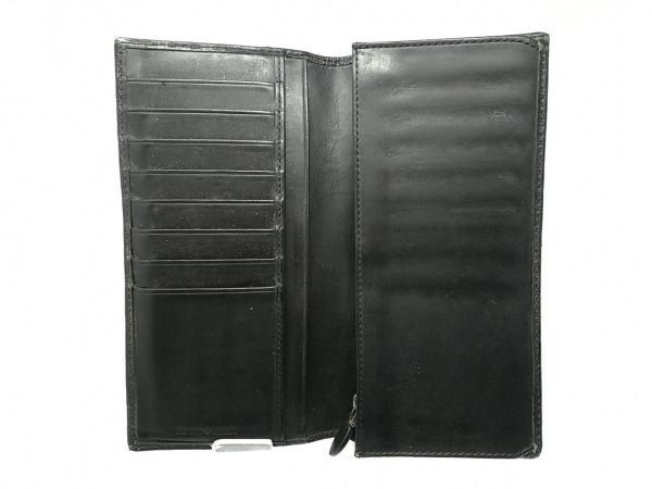 エンポリオアルマーニ 長財布 - 黒 型押し加工 レザー 3