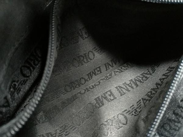 エンポリオアルマーニ 長財布 - 黒 型押し加工 レザー 4