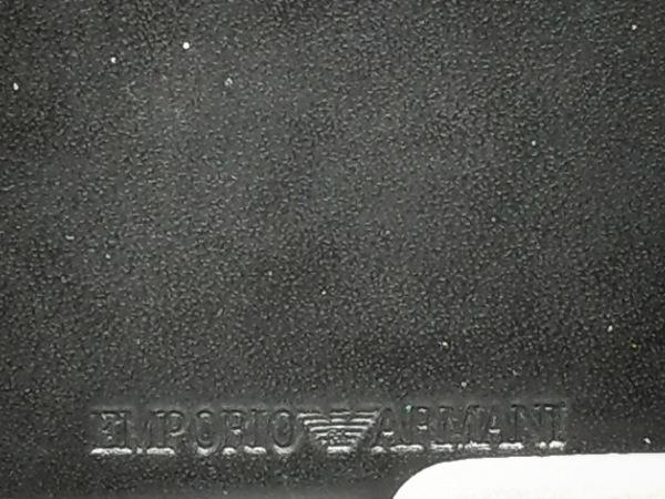 エンポリオアルマーニ 長財布 - 黒 型押し加工 レザー 5
