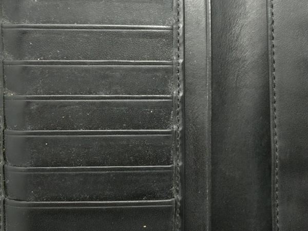 エンポリオアルマーニ 長財布 - 黒 型押し加工 レザー 6