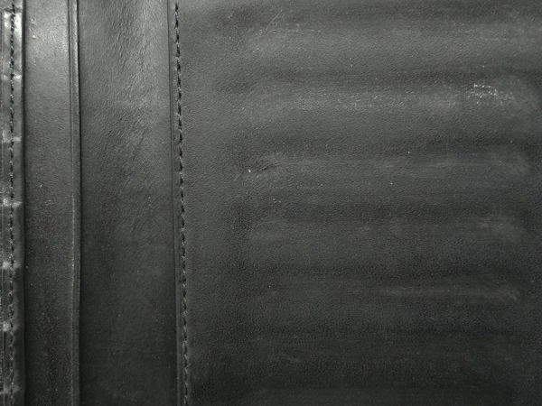 エンポリオアルマーニ 長財布 - 黒 型押し加工 レザー 7