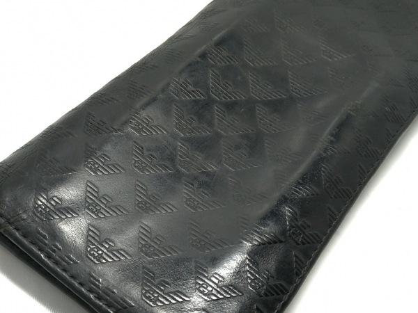 エンポリオアルマーニ 長財布 - 黒 型押し加工 レザー 8