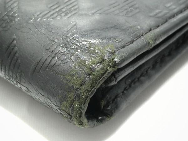 エンポリオアルマーニ 長財布 - 黒 型押し加工 レザー 9
