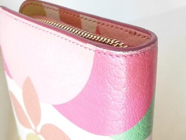 ミュウミュウ 長財布 - アイボリー×ライトピンク×マルチ レザー 7