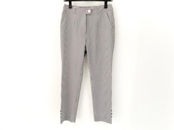 ピッコーネ パンツ サイズ36 S レディース美品  白×黒 ストライプ 1