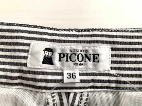 ピッコーネ パンツ サイズ36 S レディース美品  白×黒 ストライプ 3