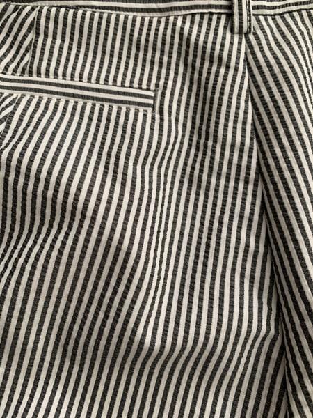 ピッコーネ パンツ サイズ36 S レディース美品  白×黒 ストライプ 8