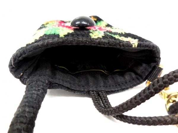 FEILER(フェイラー) 携帯電話ケース 黒×レッド×マルチ 花柄 パイル 3