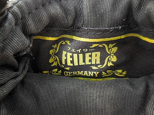FEILER(フェイラー) 携帯電話ケース 黒×レッド×マルチ 花柄 パイル 4