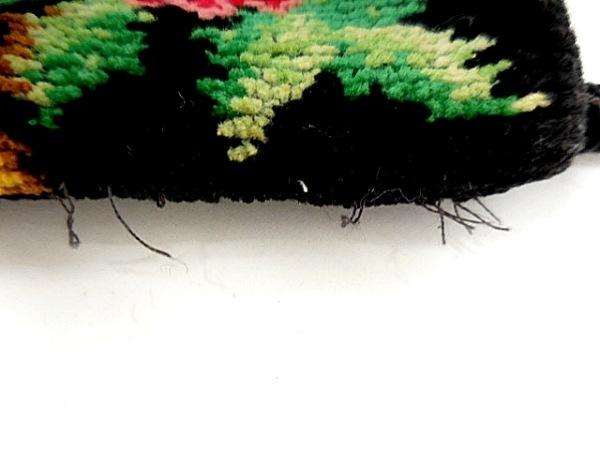 FEILER(フェイラー) 携帯電話ケース 黒×レッド×マルチ 花柄 パイル 6