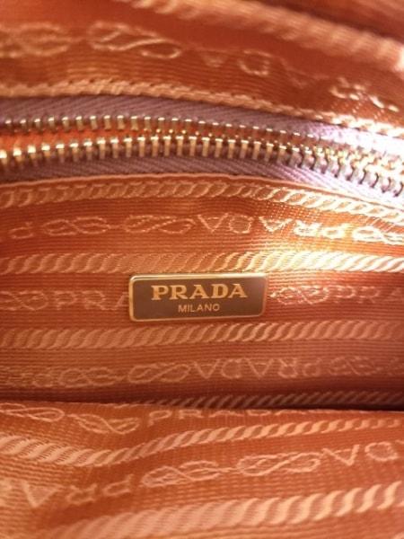 PRADA(プラダ) ショルダーバッグ - オレンジ ナイロン×レザー 6