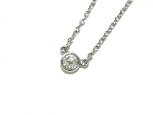 ティファニー ネックレス美品  バイザヤード Pt950×ダイヤモンド 1