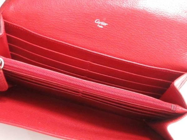 Cartier(カルティエ) 長財布 ラブ L3001377 レッド レザー 3