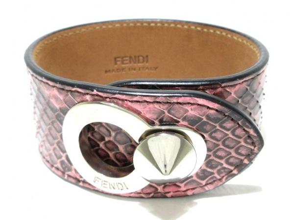 FENDI(フェンディ) バングル美品  150193001 パイソン×金属素材 1
