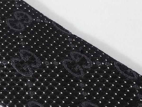 GUCCI(グッチ) ネクタイ メンズ - 黒×ダークグレー×白 GG柄 5