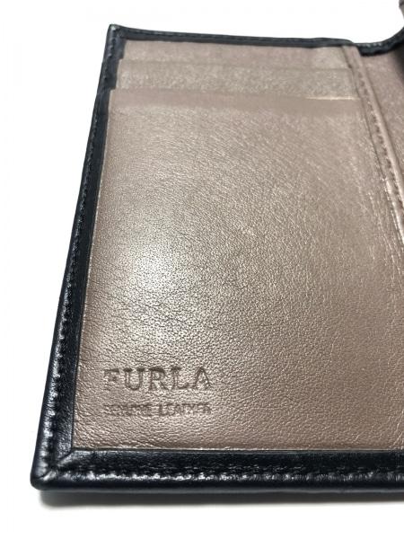 FURLA(フルラ) 名刺入れ美品  黒 レザー 4
