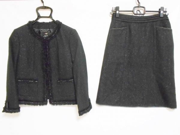 23区(ニジュウサンク) スカートスーツ サイズ38 M レディース 黒 1