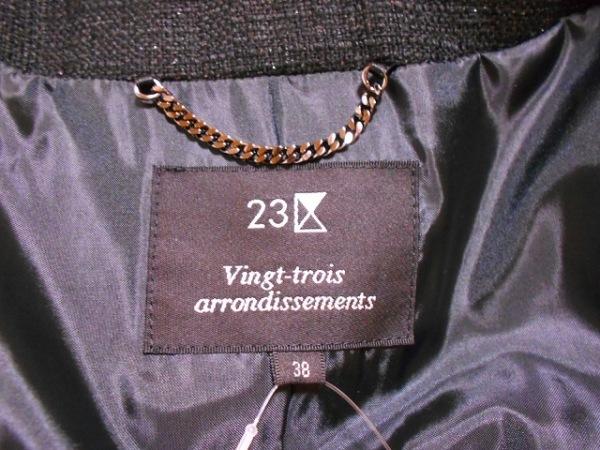 23区(ニジュウサンク) スカートスーツ サイズ38 M レディース 黒 3