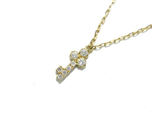 AHKAH(アーカー) ネックレス美品  K18YG×ダイヤモンド 0.05ct 1