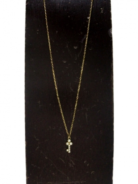 AHKAH(アーカー) ネックレス美品  K18YG×ダイヤモンド 0.05ct 2