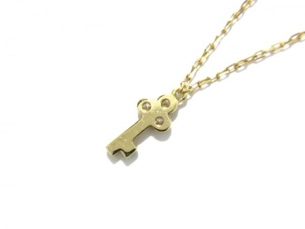 AHKAH(アーカー) ネックレス美品  K18YG×ダイヤモンド 0.05ct 3