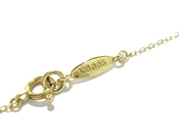 AHKAH(アーカー) ネックレス美品  K18YG×ダイヤモンド 0.05ct 6