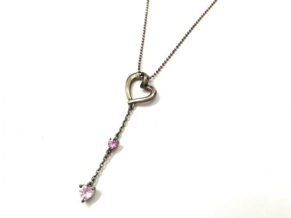 4℃(ヨンドシー) ネックレス - シルバー×カラーストーン ピンク 1
