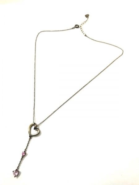 4℃(ヨンドシー) ネックレス - シルバー×カラーストーン ピンク 2