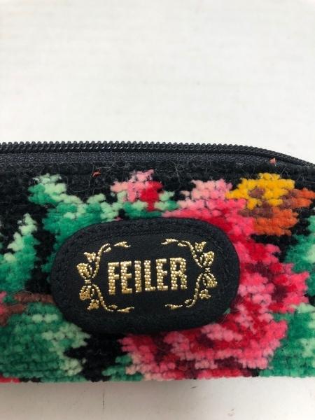 FEILER(フェイラー) ペンケース 黒×マルチ 花柄 パイル 4