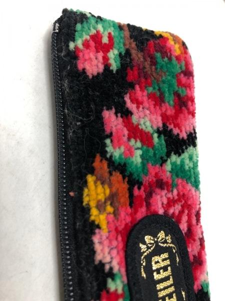 FEILER(フェイラー) ペンケース 黒×マルチ 花柄 パイル 7