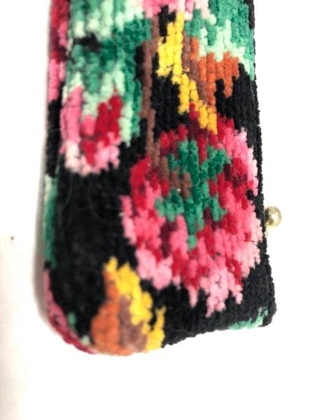 FEILER(フェイラー) ペンケース 黒×マルチ 花柄 パイル 8
