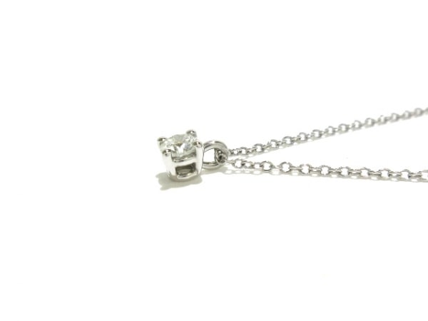 ティファニー ネックレス新品同様  ソリティア Pt950×ダイヤモンド 7