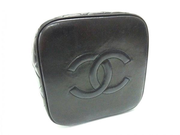 CHANEL(シャネル) バニティバッグ マトラッセ 黒 ラムスキン 8