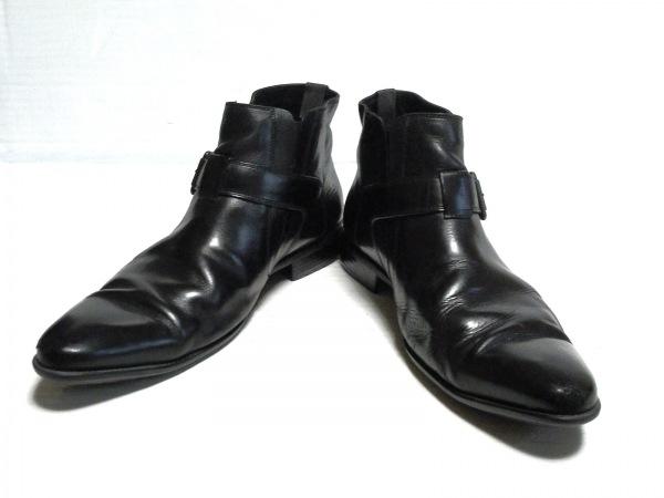 GEOX(ジェオックス) ショートブーツ 42 メンズ 黒 レザー 2