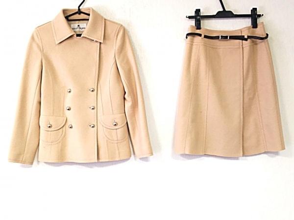 クレージュ スカートスーツ レディース美品  ベージュ 巻きスカート 1