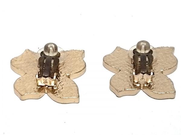 CHANEL(シャネル) イヤリング 金属素材 レッド×ゴールド フラワー 2