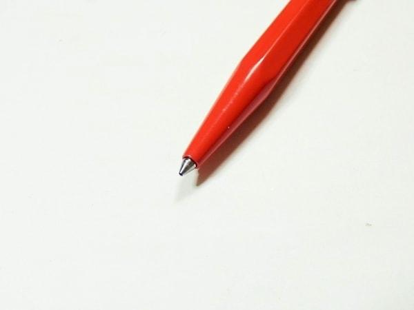 カランダッシュ ボールペン美品  レッド×シルバー 金属素材 3