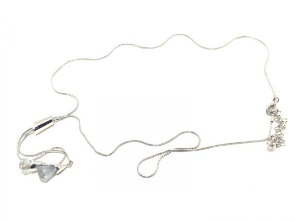 ヴァンドーム青山 ネックレス美品  金属素材×カラーストーン 2