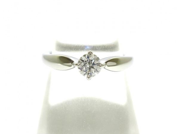 ブルガリ リング新品同様  Pt950×ダイヤモンド 1Pダイヤ/約0.20ct 1