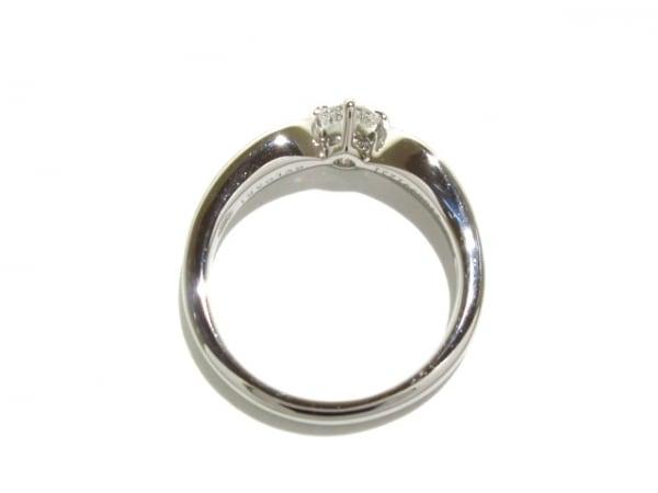 ブルガリ リング新品同様  Pt950×ダイヤモンド 1Pダイヤ/約0.20ct 4