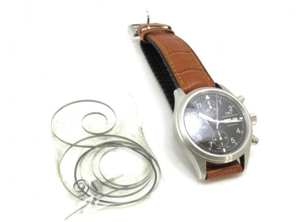 INTERNATIONAL WATCH CO 腕時計 メカニカルフリーガー IW370603 黒 9