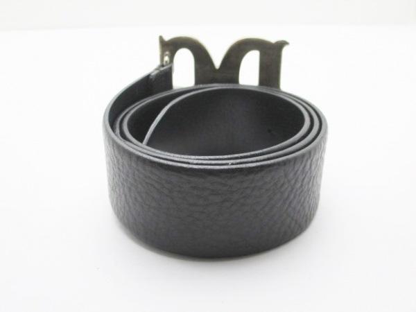ドルチェアンドガッバーナ ベルト 80/32 黒×シルバー 2