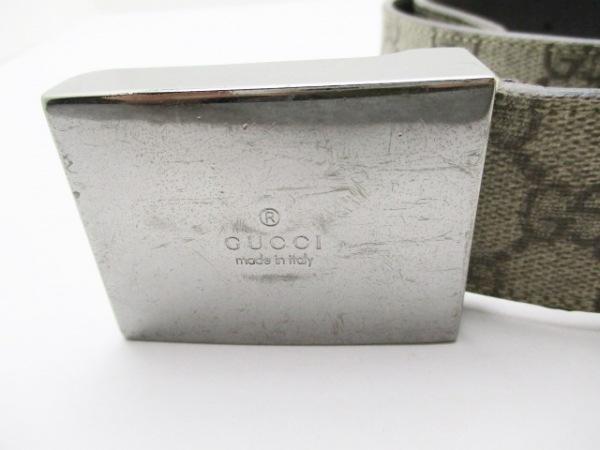 グッチ ベルト 80/32 GG柄 114990 PVC(塩化ビニール)×金属素材 3
