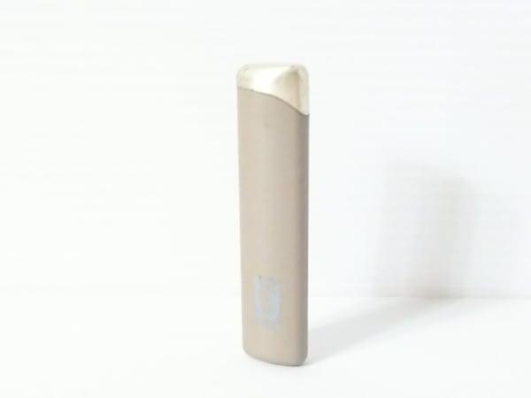 イヴサンローラン ライター ベージュ×シルバー 金属素材 1