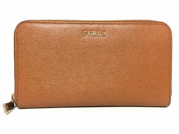 FURLA(フルラ) 長財布 - ブラウン ラウンドファスナー レザー 1