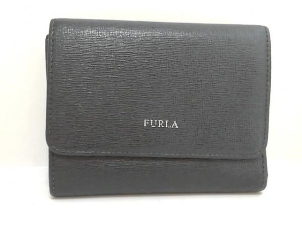 FURLA(フルラ) 3つ折り財布 黒 レザー 1